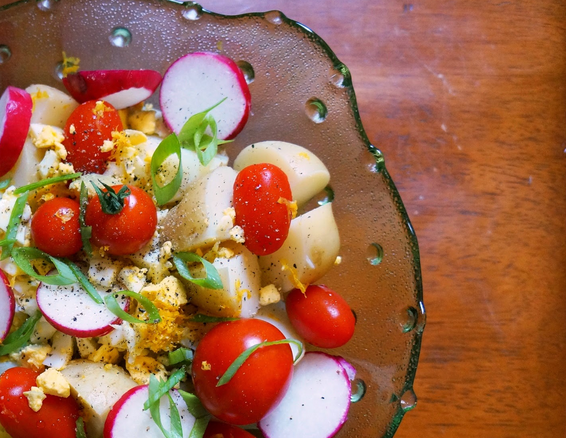 Cottage Potato Tomato Salad