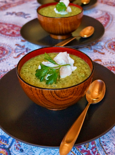 Cottage Pea + Parsley Soup