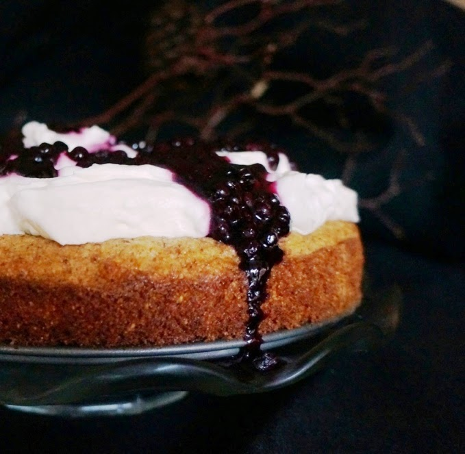 Interview with Billy Parisi and his Lemon Polenta Cake with Blueberries