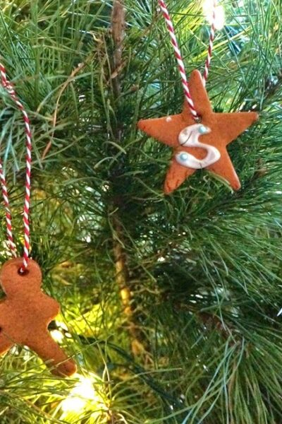 Easy Gingerbread Cookie Ornaments (Edible) with Eggless Royal Icing