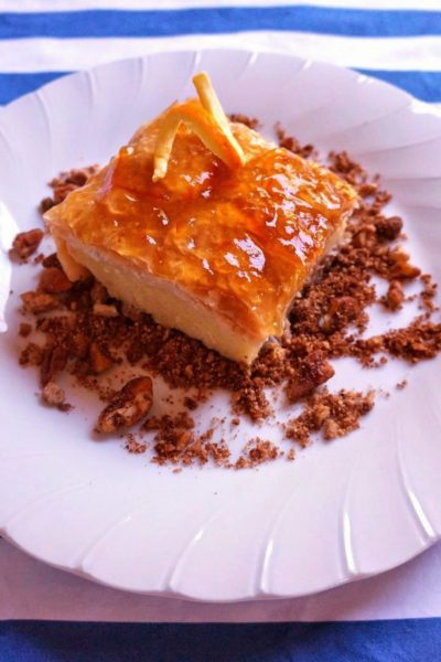 Luscious Greek Phyllo Custard Pie (Galaktoboureko)