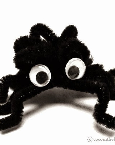 DIY Halloween Creepy, Crawly, Cute Spiders