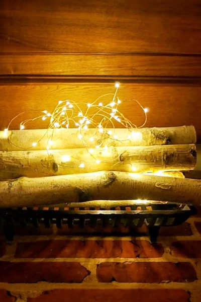 DIY Faux Fireplace – No Power Tools Needed!
