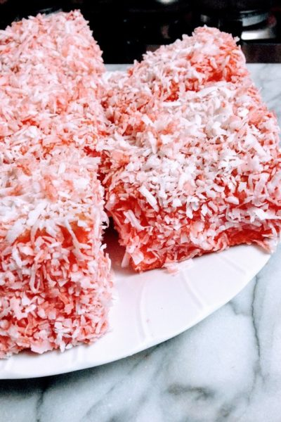 Pink Lamingtons