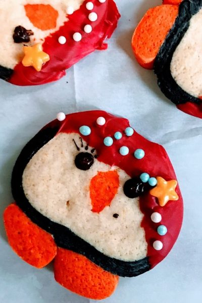 Slice & Bake Penguin Cookies