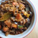 Sicilian Eggplant Salad. Eggplants steal the spotlight in this mouthwatering mix of carrots, celery, bell peppers slow-cooked in a curried tomato sauce.